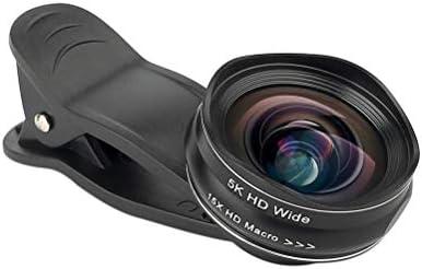 5K HD Phone Lens 0.45X Gran Angular 15X Macro Lens Sin Distorsión Profesional 2 en 1 Cámara Lente para Smartphone Negro: Amazon.es: Electrónica
