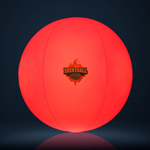 SHINYBALL Beach Ball LED Light Waterproof Glow 3 Colors – Night Outdoor Activity, Beach Pool Camping Decoration Lamp for Children Kids by SHINYBALL