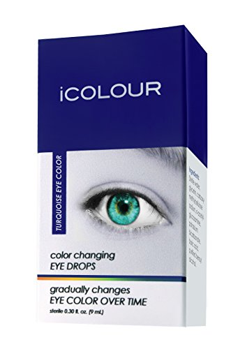 iCOLOUR Color Changing Eye Drops - Change Your Eye Color Naturally - 1 Month Supply - 9 mL (Turquoise)