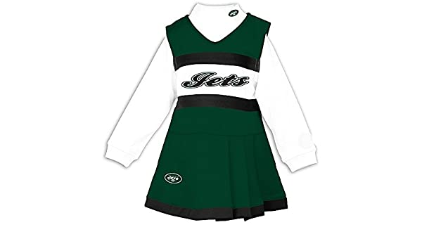 9d0ab87a385 Amazon.com  New York Jets 3T Infant Size 2 Piece Long Sleeve Cheerleader  Uniform - Costume  Sports   Outdoors