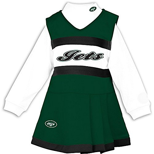 Piece 2 Cheerleader Youth Outfit (Genuine Merchandise New York Jets 2T Infant Size 2 Piece Long Sleeve Cheerleader Uniform - Costume)