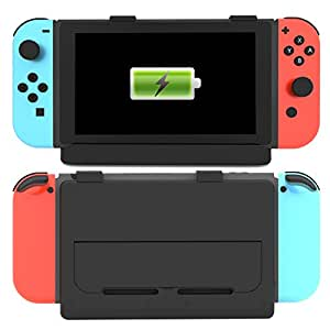 Switch Battery Charger Case Portable Switch Backup Battery Pack 10000mAh Extended Travel Power Bank for Switch (BLACK)