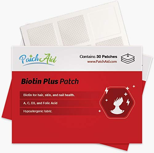 Biotin Plus Topical Patch for Hair, Skin, and Nails by PatchAid (12-Month Supply)