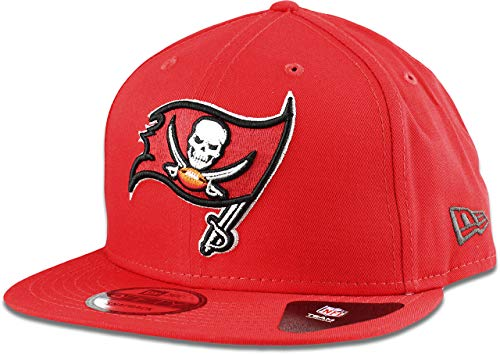 Tampa Bay Buccaneers Cap - New Era Tampa Bay Buccaneers Hat NFL Buccaneer Red 9FIFTY Snapback Adjustable Cap Adult One Size