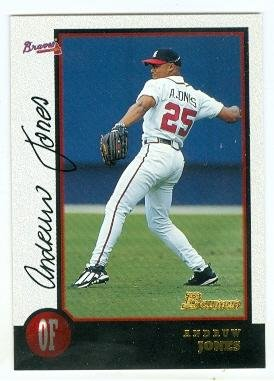 Andruw Jones Baseball Card Atlanta Braves 1998 Topps Bowman 262