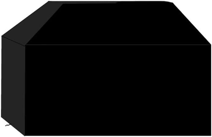Sotor Funda de Barbacoa, 210D Oxford Impermeable Resistente al Desgarro, con Hebilla Doble, Cordón Ajustable, Doble Asa y Bolsa, Protección Solar/Lluvia/Polvo/Viento/UV, Negro