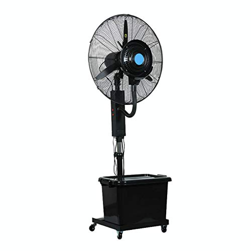 ZRFANS Spray Floor Fan 3rd Gear Air Conditioning Cooling Fan Industrial Spray Fan Shaking Head Commercial Move Landing Centrifugal Cooling Conditioner Home Appliances (26in /30in)