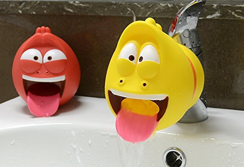 Larva Cartoon Kid Faucet Extender for Helps Children Toddler Kids Hand Washing in Bathroom Sink (Yellow)