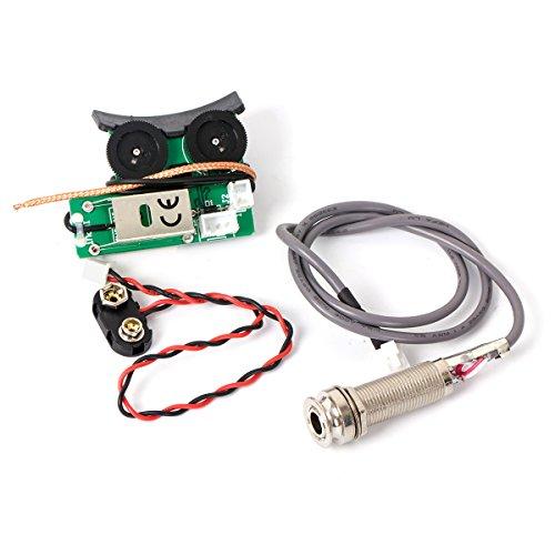 Kmise Under Saddle Piezo Pickup Onboard Preamp System for Acoustic (Humbucker Soundhole Pickup)