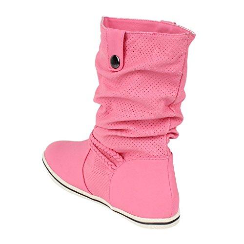 Japado - Botas plisadas Mujer Pink - Pink