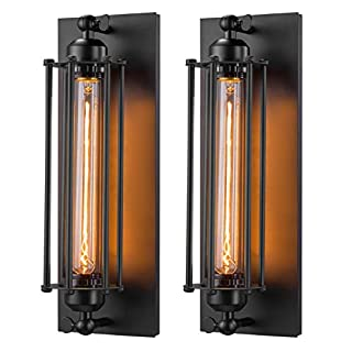 Licperron Industrial Wall Sconce E26 E27 Edison Vintage Wall Sconce Antique Wall Lamp Fixtures Bedside Bar Restaurant Hotel Lighting Decor 2 Pack