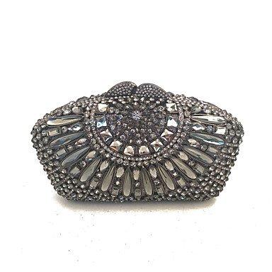 SUNNY KEY-Carteras de mano y clutches@Bolsos de embrague de noche de las mujeres hechas a mano con cristales de alto grado , black: Amazon.es: Zapatos y ...