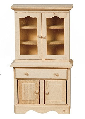 Melody Jane Dollhouse Small Dresser Cabinet Unfinished Bare Wood Miniature Furniture (Cabinet Miniature Small)