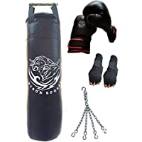 Byson Boxing Kit Set for Adults&Mens&Seniors&Professionals(36 inches Synthetic Leather Punching Bag with Boxing Gloves and Hand wrap Gloves and Chain Heavy Bag)