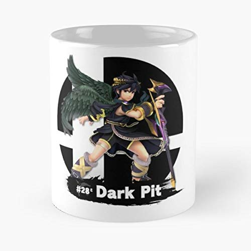 Smash Bros Ultimate Pit Dark Kid Icarus Uprising - 11 Oz Coffee Mugs Unique Ceramic Novelty Cup, The Best Gift For Holidays.