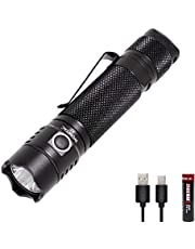 WOWTAC A7 Tactical Flashlight,1047 Lumens and 2600mAh 18650 Lithium Ion Battery