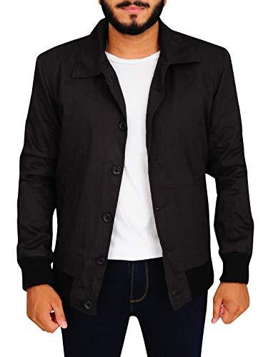 (TrendHoop Mens Custom Made Criminal Grey Lightweight Bomber Varsity Jacket (Criminal Grey,)