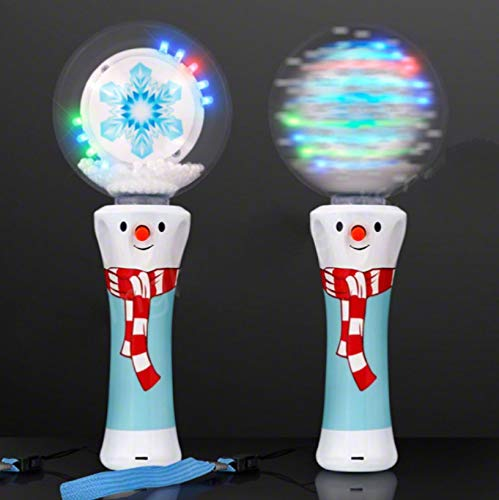 Spinning Snowflake Snowman (Light Up Snowman Spinner Wand with Whirling Snowflakes - Tons of Fun for That Christmas Party or Winter Carnival! Orders of 2 or More get F R E E -)