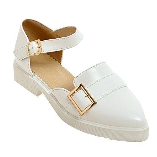 Charm Foot Womens Sandalo Con Cinturino Alla Caviglia A Punta Bassa E Cinturino Alla Caviglia