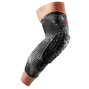 Mcdavid 6446 Hex Knee Pads Compression Leg Sleeve for Basketball, Football & All Contact Sports, Youth & Adult Sizes, Sold as Pair (2 Sleeves)