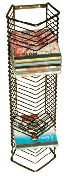d Wire Storage Tower - Product Description - Atlantic - Onyx 35-Cd Wire Storage Tower Holds 35 Cds In Jewel Cases Contemporary Wire Styling 20