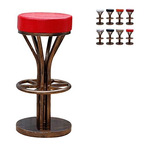 - BAR Round Antique Copper - Retro Stool American Wrought Iron Chair High Metal Stool