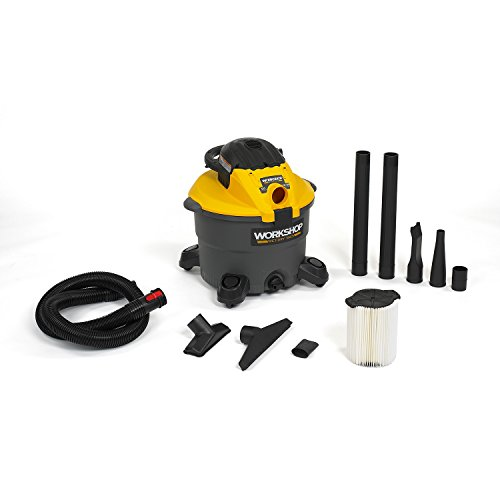 WORKSHOP Wet Dry Blower Vac WS1200DE Heavy Duty Leaf Blower Vacuum Cleaner, 12-Gallon Wet Dry Vacuum Cleaner and Leaf Blower, 5.0 Peak HP Shop Vacuum And Blower