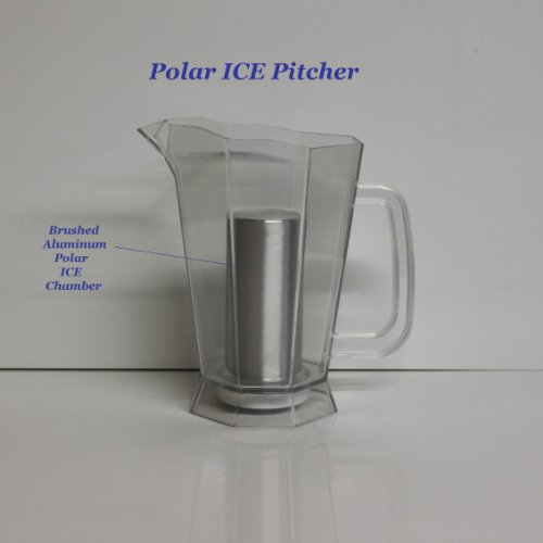 - Polar ICE Pitcher with Aluminum Polar ICE Chamber (Crystal Clear/Brushed Aluminum Ice Chamber)