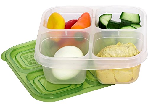 EasyLunchboxes 4-Compartment Snack Box Food Containers, Set of 4, Classic by EasyLunchboxes (Image #5)