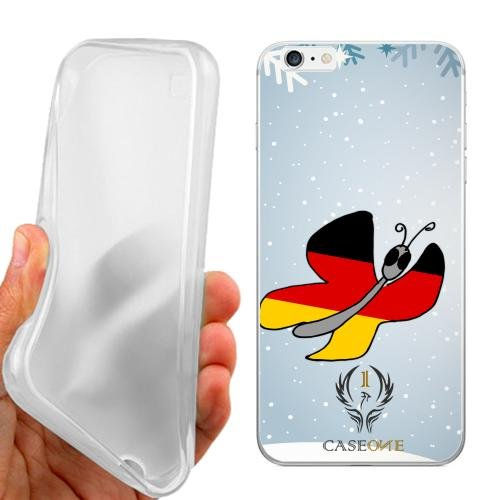 CUSTODIA COVER CASE CASEONE BUTTERFLY GERMANY PER IPHONE 6 PLUS
