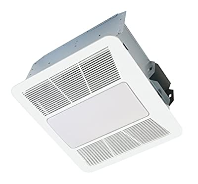 KAZE APPLIANCE SE90TL2 Ultra Quiet 90-CFM 0.3-Sones Bathroom Exhaust Fan with LED and Night Light, White