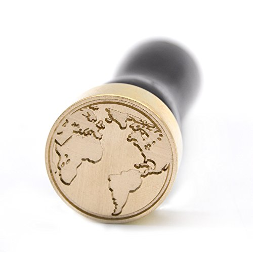 Wax Seal Monogram Stamp Worldwide Map Desigh for Gift Packing Wedding Invitations