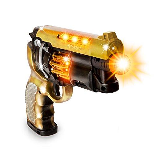 CifToys Blade Runner Gun Pistol Toy With Gunfire Sounds | Durable Design, Nonslip Grip, Rotating Bullet Chamber & Lights | For Pretend Play, Parties, Halloween, Police & Cowboy Dress Up Toy Gun (Halloween Toy Guns)