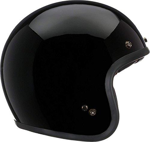 Bell Custom 500 Open-Face Motorcycle Helmet (Solid Gloss Black, Large)