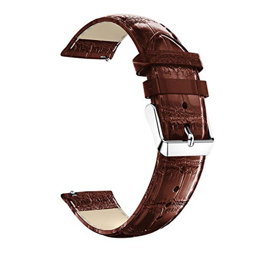 (Cathy Clara Watch Band Round Tail Replacement Leather Watch Band Wrist Strap for Huawei Honor Magic 2)