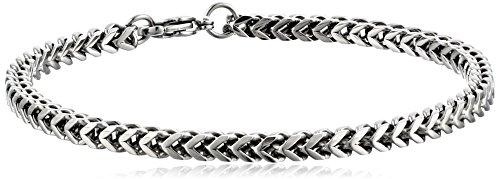 Bracelet Chain Foxtail (Men's Stainless Steel 4mm Foxtail Chain Bracelet, 9