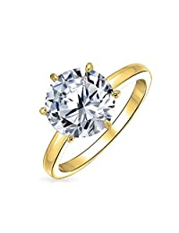 Bling Jewelry CZ Solitaire 3.5ct Bridal Engagement Ring 925 Silver