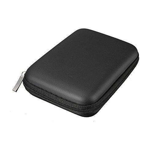 FORTAG Hardcase Tasche für externe Festplatte 2,5 Zoll Schutzhülle in Schwarz