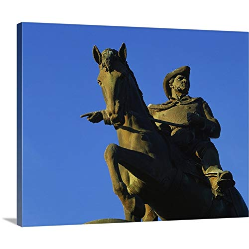 "GREATBIGCANVAS Gallery-Wrapped Canvas Entitled Low Angle View of a Statue of Sam Houston, Sam Houston Monument, Houston, Texas by 14""x11"""