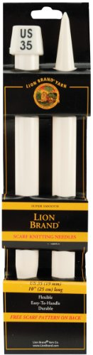 - Lion Brand Yarn 400-5-3501 Scarf Knitting Needles, Size 35, 19mm