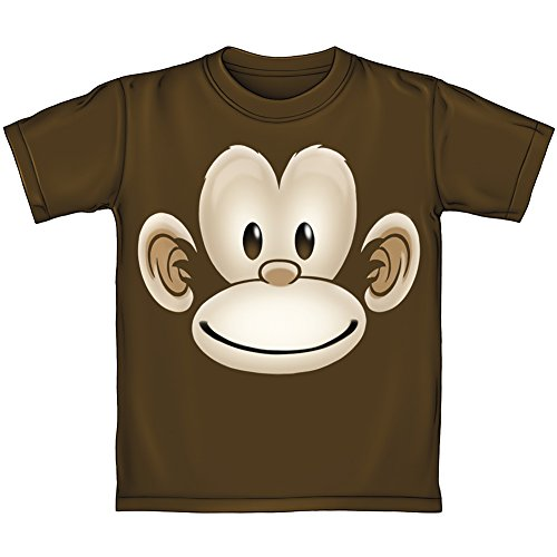 Monkey Face Tee - Dawhud Direct Monkey Face Youth Tee Shirt (Small 6-7) Brown