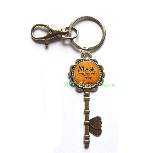 Charming Key Keychain,Halloween Costume Jewelry - Magic always comes with a Price Dearie - Quote - Magic Spell,AS098