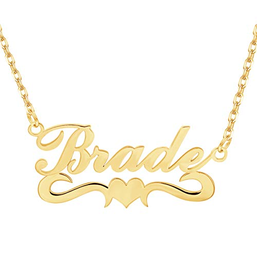 EVER2000 Custom Name Necklace, 18K Gold Plated Nameplate Personalized Jewelry Gift for Women ()