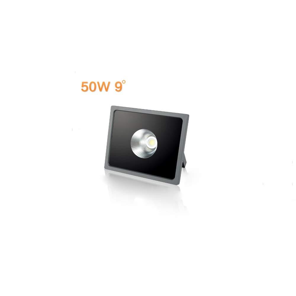 Mogicry 50W Outdoor Business Engineering Ip65 Wasserdichter Flutlicht-Dekorationsstandort-energiesparende Anzeigen-Scheinwerfer führte Aluminiumpfeiler-ausgeglichenes Glas-Bestrahlungs-Licht