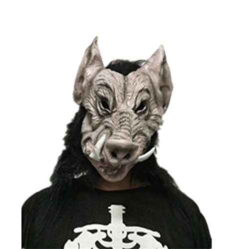 micrkrowen Halloween Emulation Wild Boar Head Latex Mask