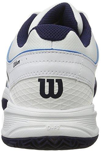 Wilson Tour Vision V Wh/Bl/Ny, Scarpe da Tennis Uomo, Bianco (White/methyl Blue/navy), 43 1/3 EU