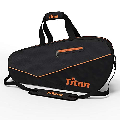 Titan Tennis Racket Bag Pro 6 Racquet | 4 Large Pockets with Padded Inner Core to Protect | Beginner, Intermediate, or Advanced | Bags Designed for Men, Women and ()