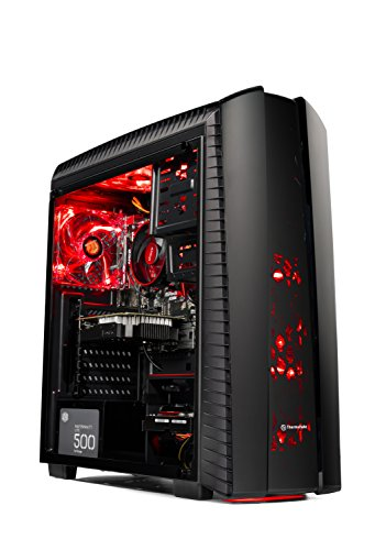 Skytech Gaming ST-SHADOW-II-001 [Gamer's Choice] SkyTech Shadow II Gaming Computer Desktop PC AMD Ryzen 5 1400,GTX 1050 TI 4GB, 1TB HDD,16 GB DDR4, Windows 10 Home