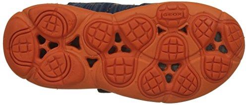 Geox J Nebula a, Zapatillas Para Niños Azul (Navy/orange)
