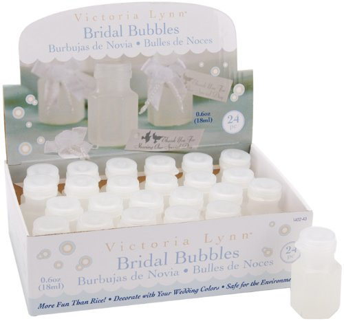 Darice 1402-43, Wedding Bubbles 24-Piece,1/2-Ounce Bottles Box Wedding Bubble Bottles